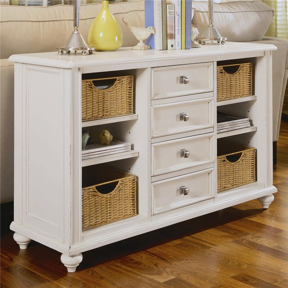 console table with drawers and baskets american drew wolf products color camden accent storage inch round cover outdoor coffee big lots chairs wooden threshold plates off white