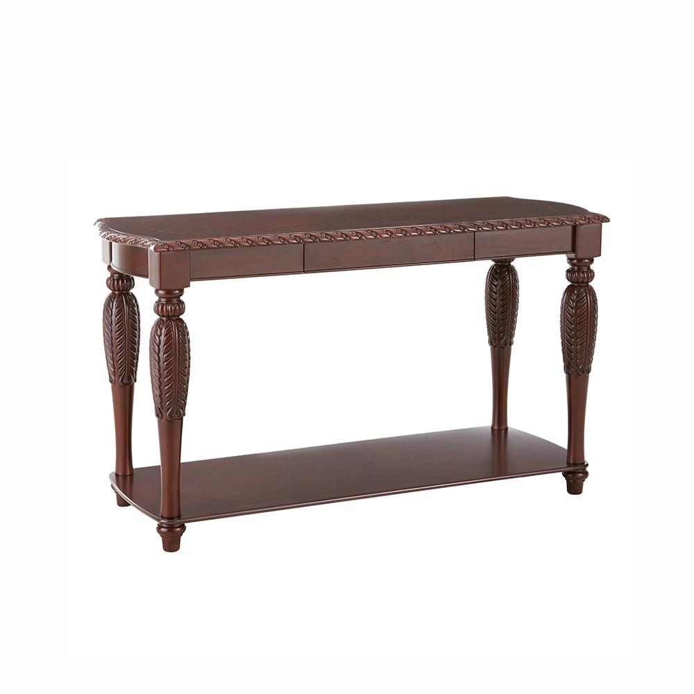 console tables accent the brown wood one drawer table threshold antoinette traditional cherry sofa wooden garden storage box woven metal high dining drop leaf breakfast silver