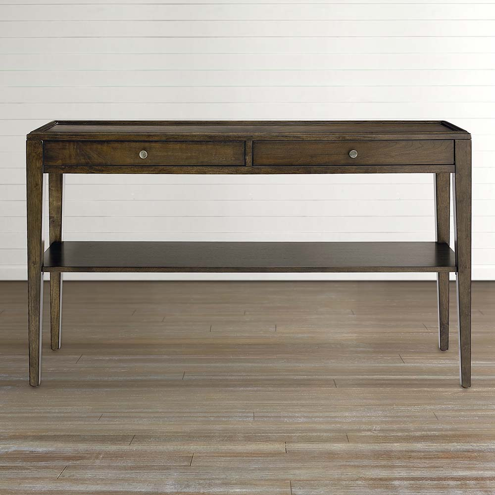 console tables entertainment centers bassett furniture metal sylvia accent table pulaski convertible sofa glass gold marble top target toddler bedding iron coffee legs white side
