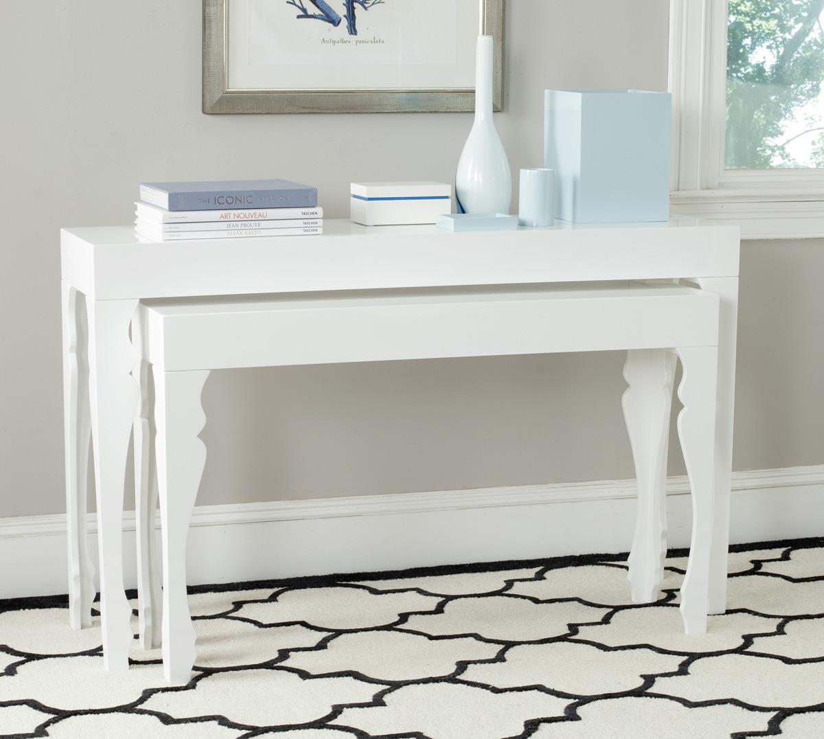 consoles furniture safavieh room white lacquer accent table share this product lack bedside designer legs ikea storage bins cement blue outdoor side industrial west elm entryway