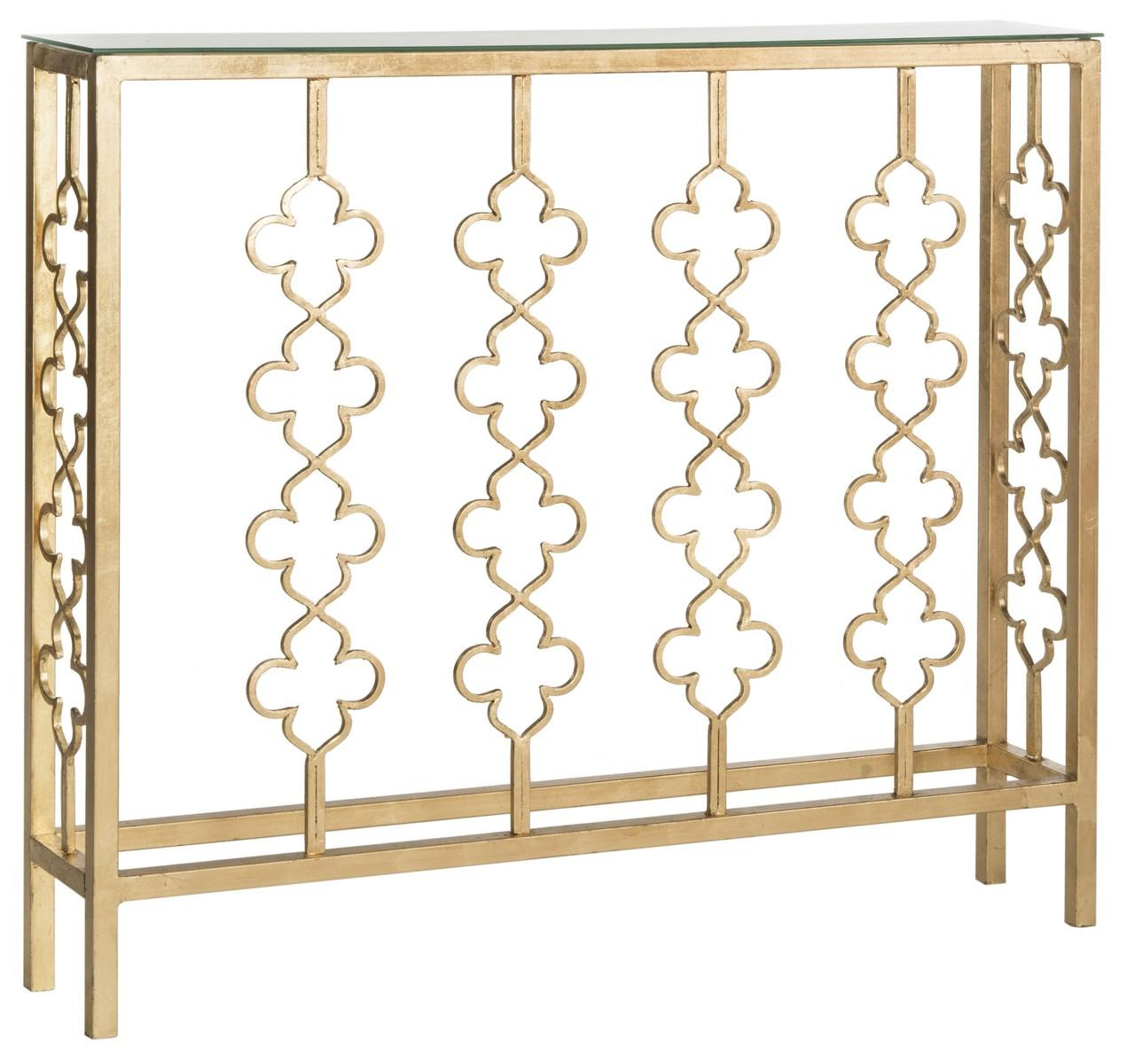consoles furniture safavieh side gold accent console table share this product black glass nightstand tennis metal end base small round with screw legs rose curved patio umbrella