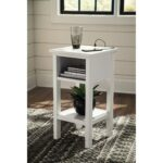 contemporary accent table with cubby shelf signature design products ashley color marnville tables carpet edge strip floor threshold transitions distressed console coffee drawers 150x150