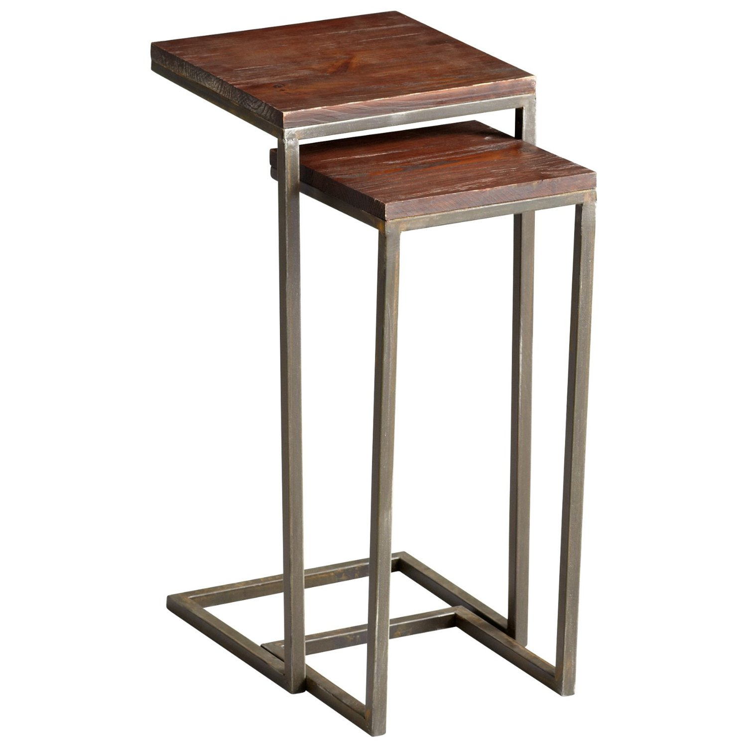 contemporary accent tables find get quotations iron wood nesting set two tier antique table ikea dining furniture modern floor reading lamps multi colored coffee target high and