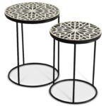 contemporary amisha nesting tables accents steve silver products color threshold parquet accent table wilcox furniture end outdoor swing turkish iron small with drawers solid 150x150
