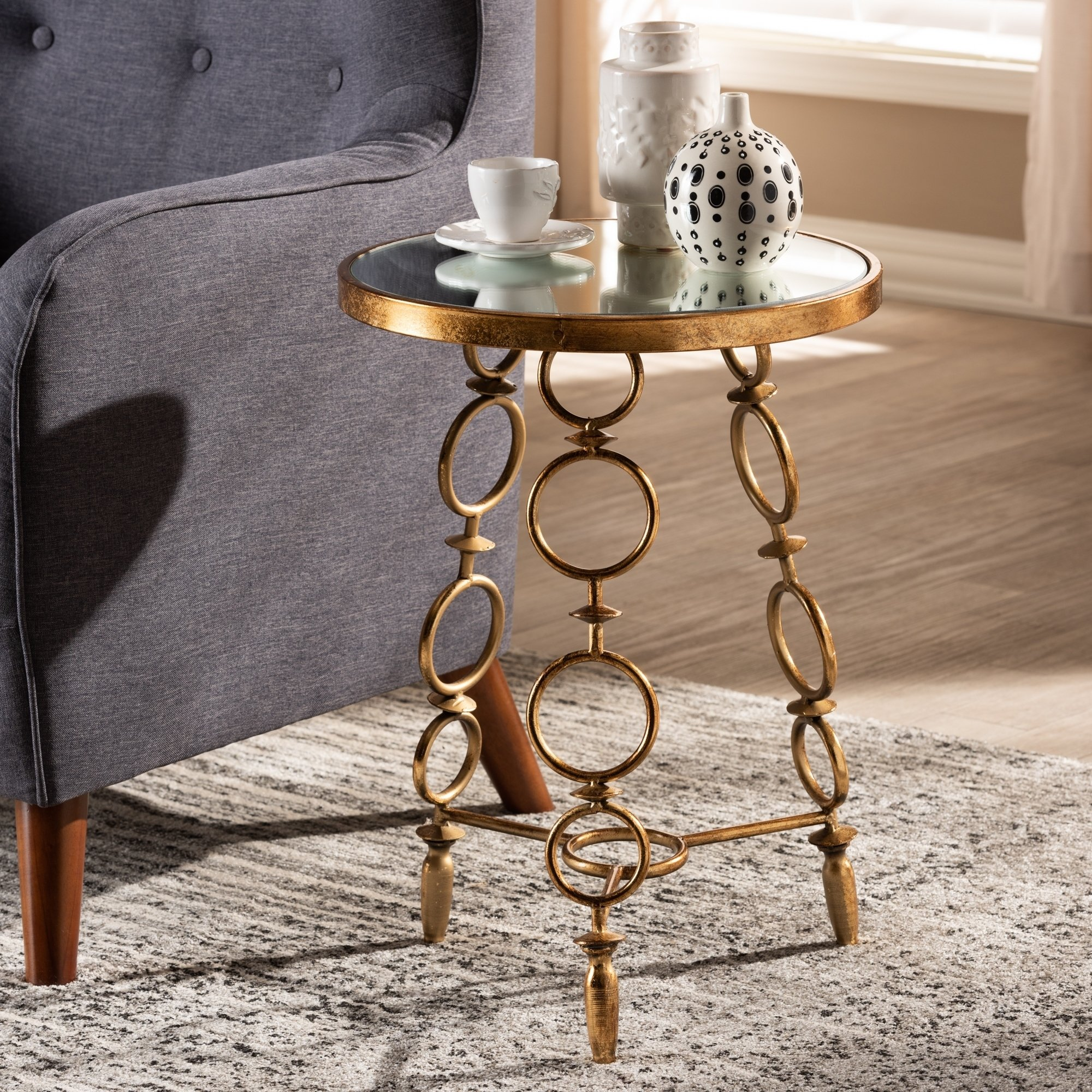 contemporary antique gold accent table free metal eyelet shipping today patio beer cooler bamboo furniture large barn door keter ice ashley leather couch half moon console oval