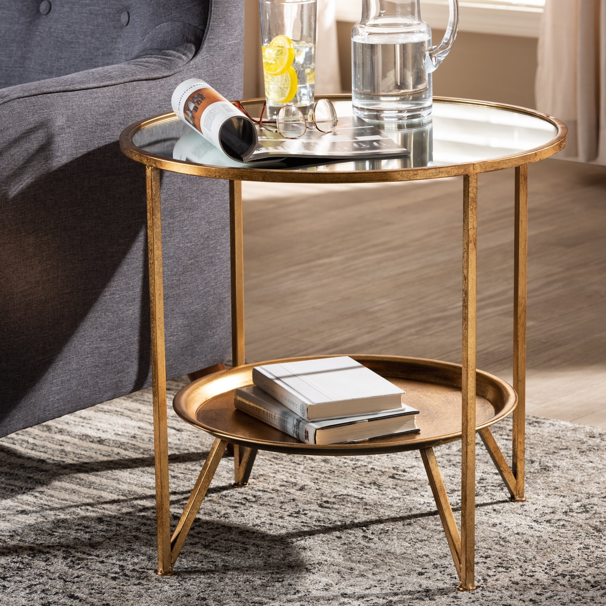 contemporary antique gold accent table free shipping today vintage mirror coffee black legs small square tablecloth with chairs under skinny runner grey cabinet cordless led