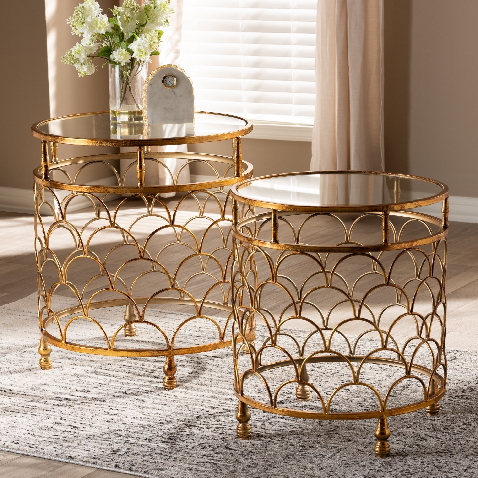 contemporary antique gold piece stackable accent table set room essentials stacking free shipping today round tablecloths tiffany hanging lamps console chests furniture small