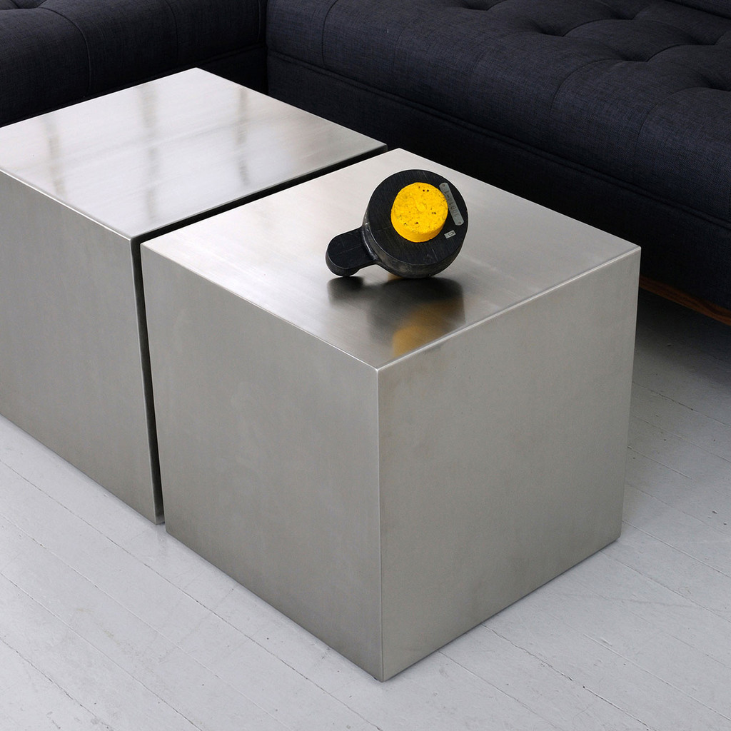 contemporary coffee table wooden square cubes cylinders storage stainless steel cube accent tables gus modern side seating small wood target with underneath glass mirrored grey