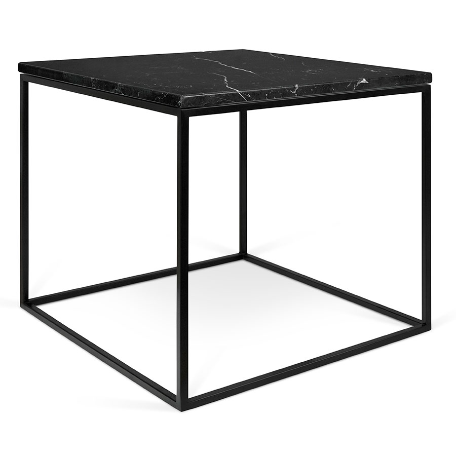 contemporary end tables side collectic home gleam marble table black clear acrylic accent top metal base square modern ryder small designer sofa whole lamp shades inch deep chest