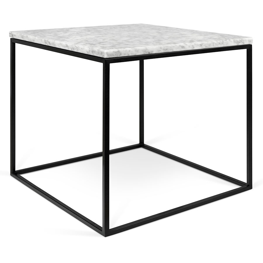 contemporary end tables side collectic home gleam marble table white black clear acrylic accent top metal base square modern ryder small solid wood coffee grey bedroom chair