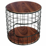 contemporary end tables side collectic home wirefram table wire basket accent wireframe gus modern wide door threshold wooden bedside cabinets glass and brass cocktail small round 150x150