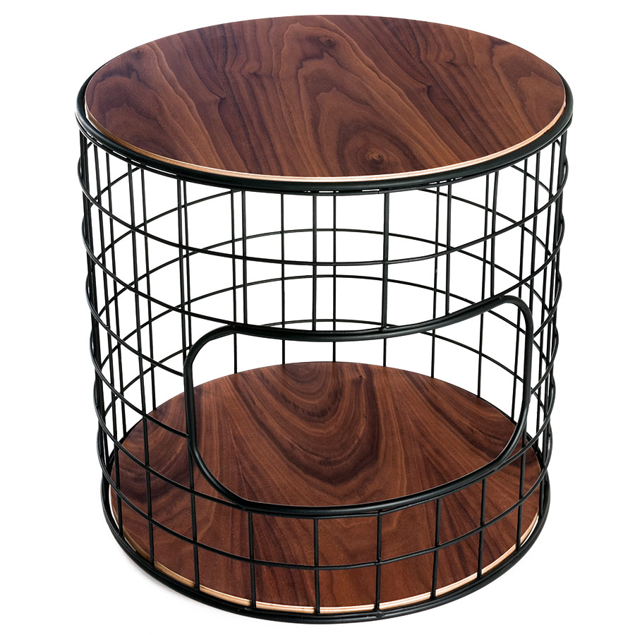 contemporary end tables side collectic home wirefram table wire basket accent wireframe gus modern wide door threshold wooden bedside cabinets glass and brass cocktail small round