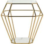 contemporary geometric marble top accent table safavieh front gold with share this product high end furniture teak dining set dark grey side metal basket vintage mid century 150x150