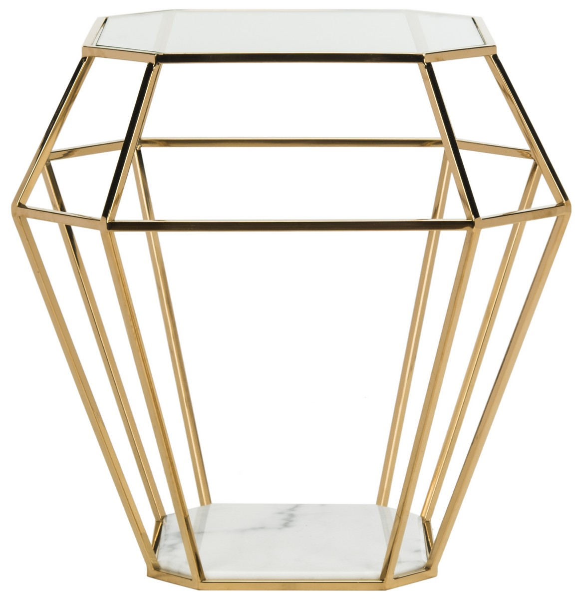 contemporary geometric marble top accent table safavieh front gold with share this product high end furniture teak dining set dark grey side metal basket vintage mid century