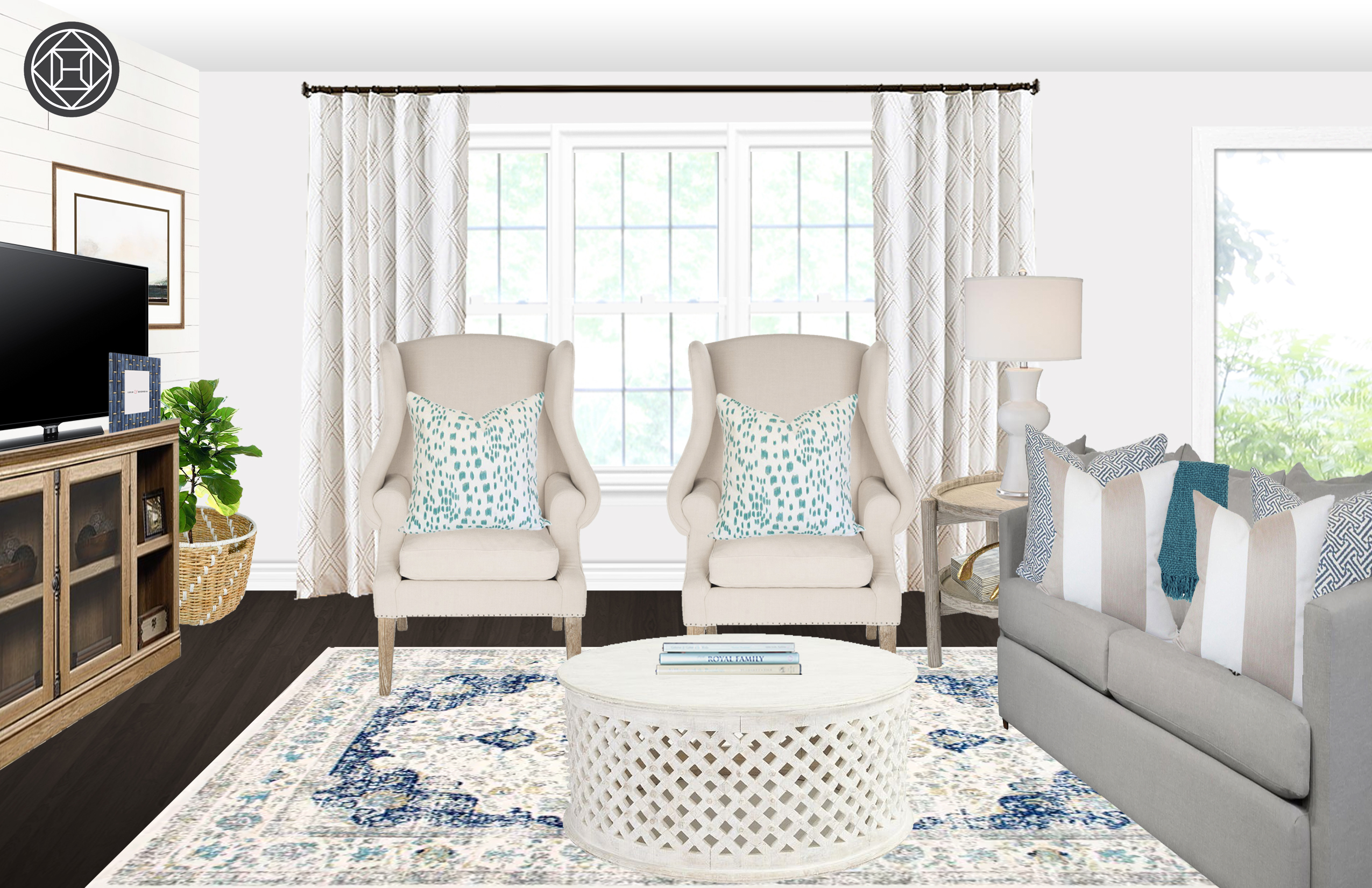 contemporary glam living room design havenly interior designer phpenrztm uttermost asher blue accent table final dining accents space saver lawn furniture diy plans led desk lamp