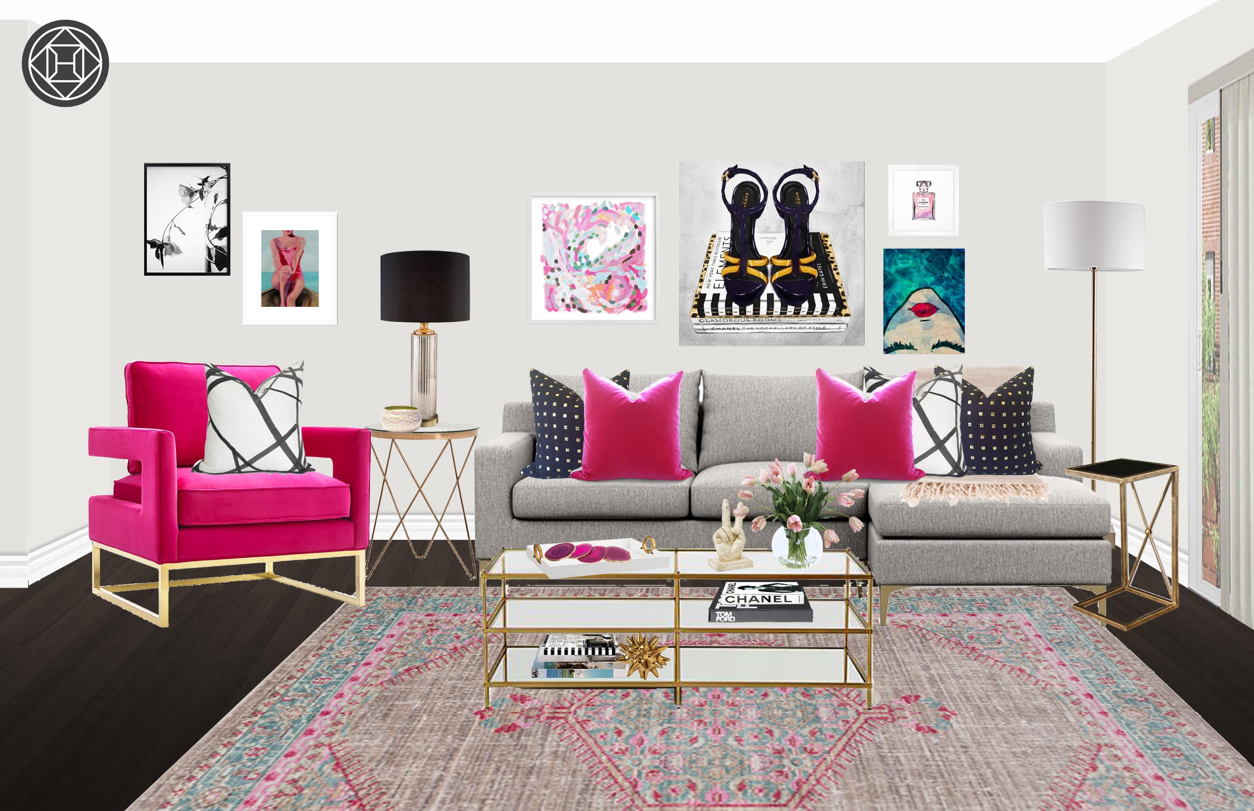 contemporary glam living room design havenly interior designer threshold margate accent table final ikea garden bench round kitchen sets resin outdoor side ashley furniture