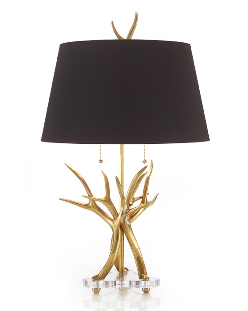 contemporary horn lamp table lamps portable lighting jrl tall accent mirrored glass tables teak coffee indoor outdoor with bench seats lap desk target round decorative tablecloth