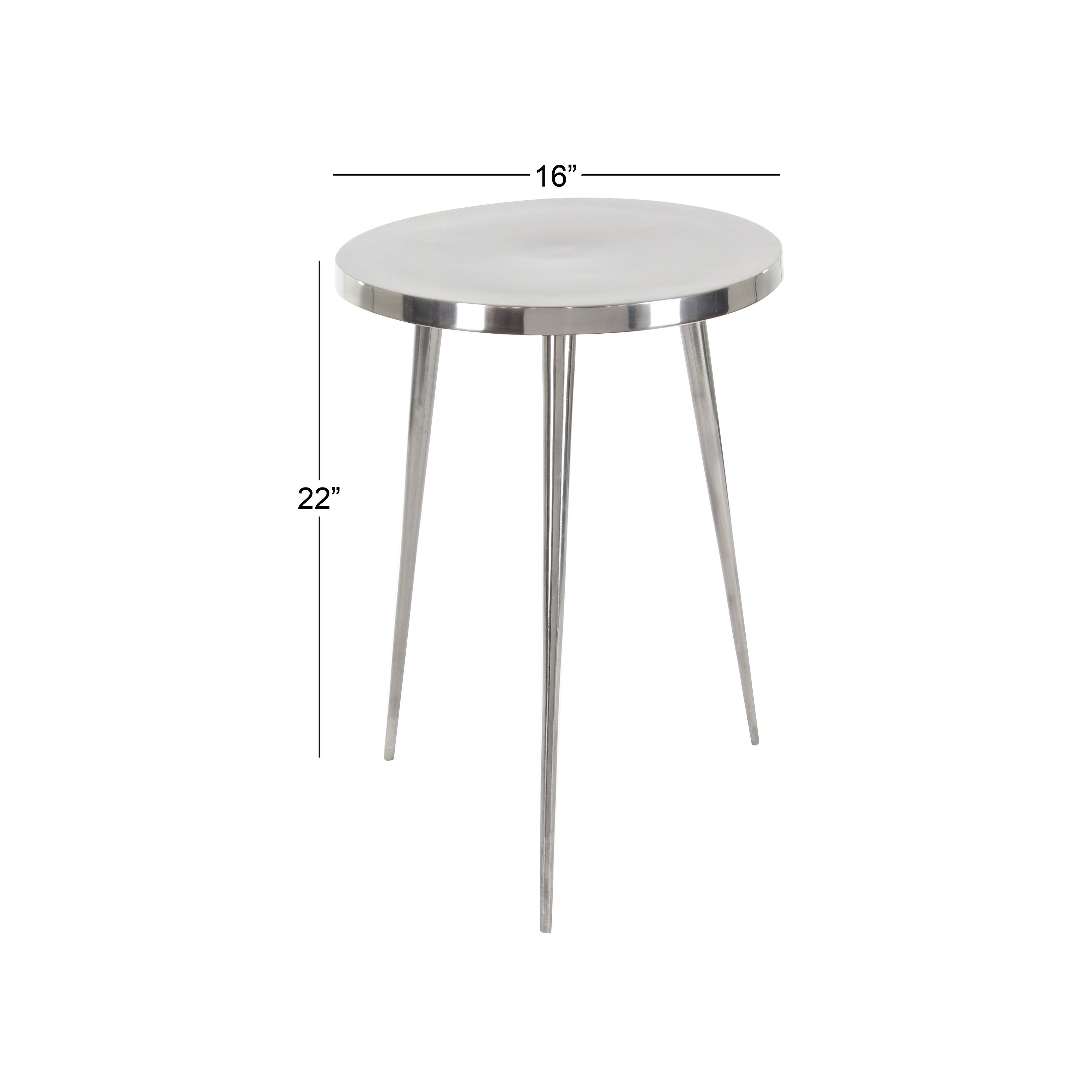 contemporary inch round aluminum accent table studio free shipping today monarch hall console dark taupe fabric coffee clothes organiser covers for bedside tables high end lamps