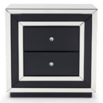 contemporary mirrored drawer night stand zuri furniture three drawered black modern accent table free shipping lamp shades for small lamps outdoor and chair covers rectangular 150x150