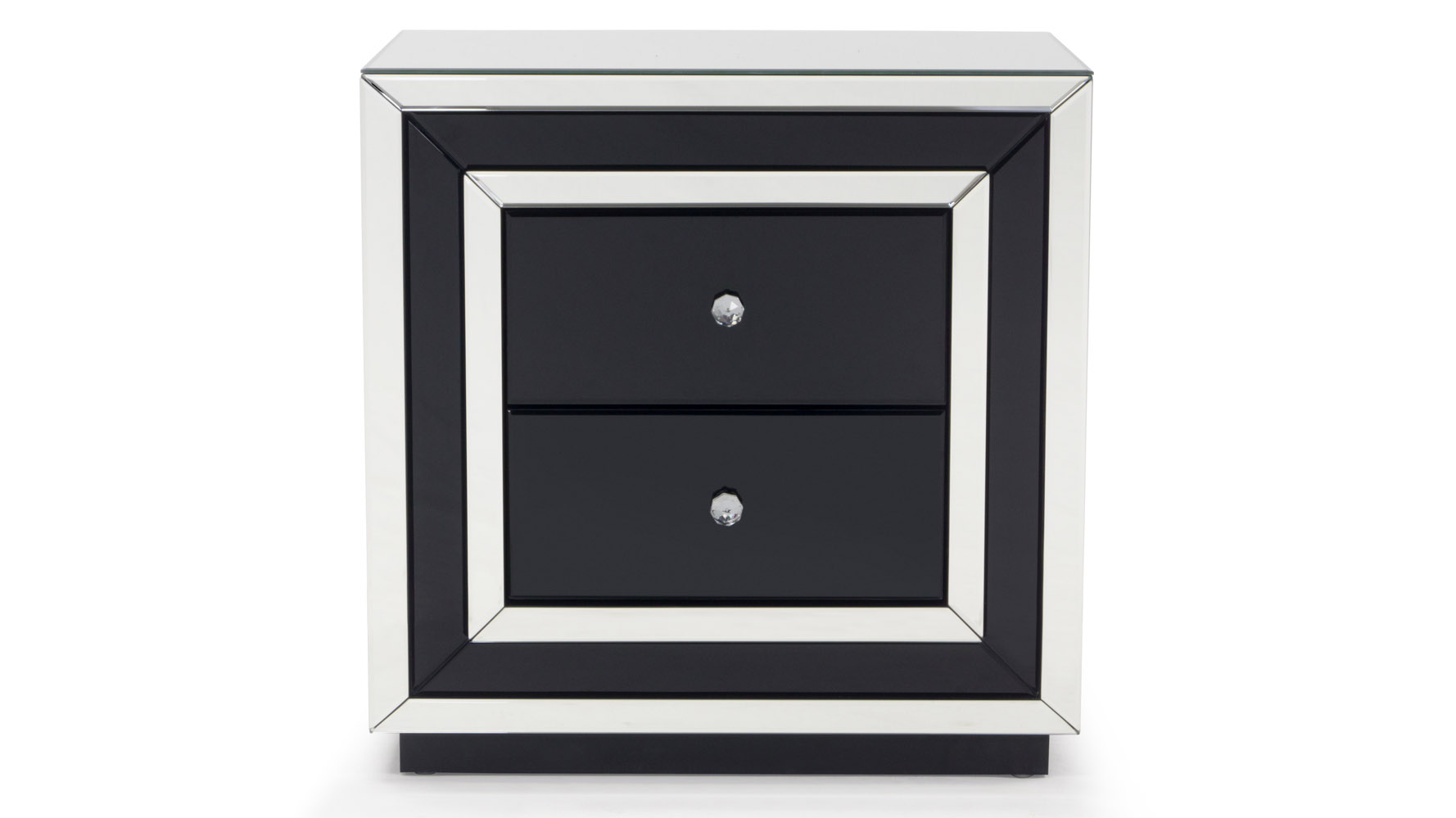 contemporary mirrored drawer night stand zuri furniture three drawered black modern accent table free shipping lamp shades for small lamps outdoor and chair covers rectangular