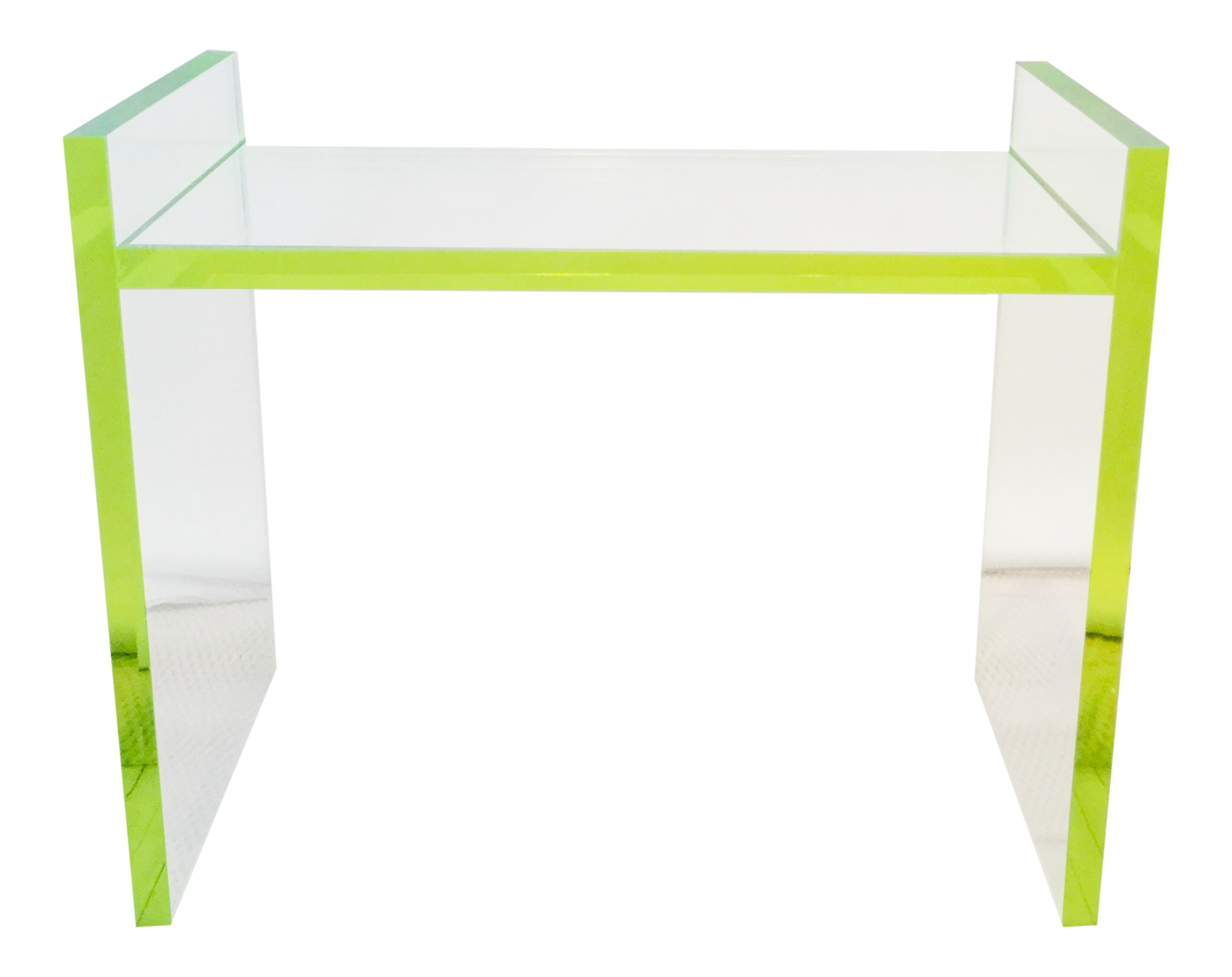 contemporary neon detailed clear acrylic bench chairish accent table set bedside tables antique looking end patio chair seat covers illusion target black side ikea shelf rack rope