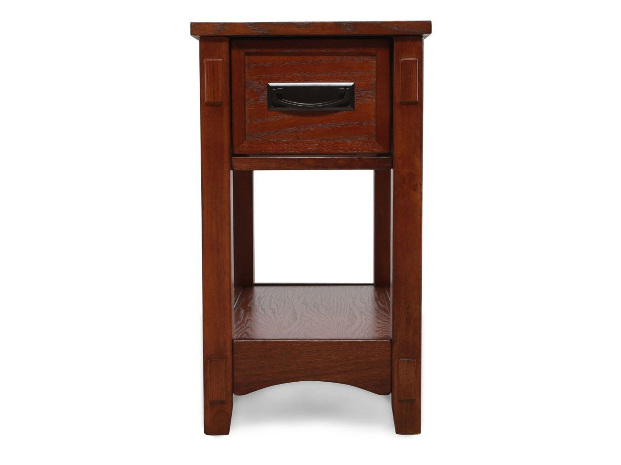 contemporary one drawer chairside accent end table medium brown ash battery operated lamps square legs entryway bench small tables pottery barn black living room sets oriental