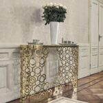 contemporary sideboard table metal marble leather manfred gold accent decor retro lamp old wall clock skinny nightstand tama drum throne black and end small mosaic plant stand 150x150
