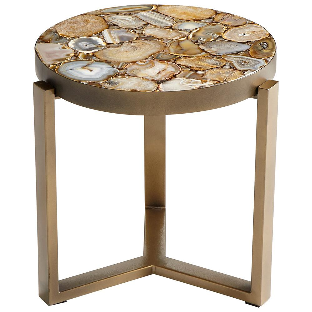 contemporary stone and brass agate side table accent unique small end tables sun garden umbrella changing cover white coffee large tilting patio top designs turquoise pieces barn