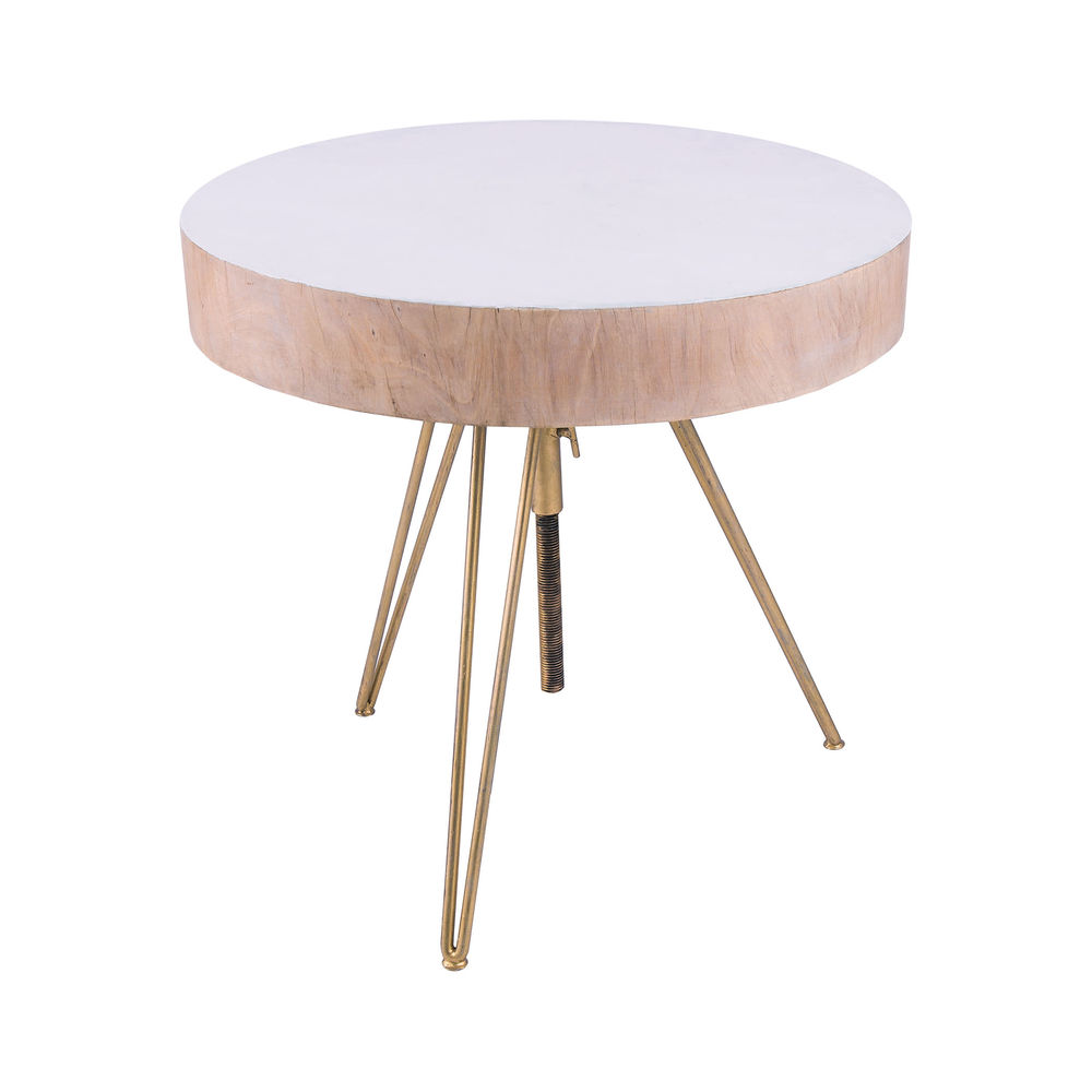 contemporary white wood accent table gold hairpin legs elk dimondhome accessories with nautical themed side computer desk for small spaces premade unique cabinet hardware