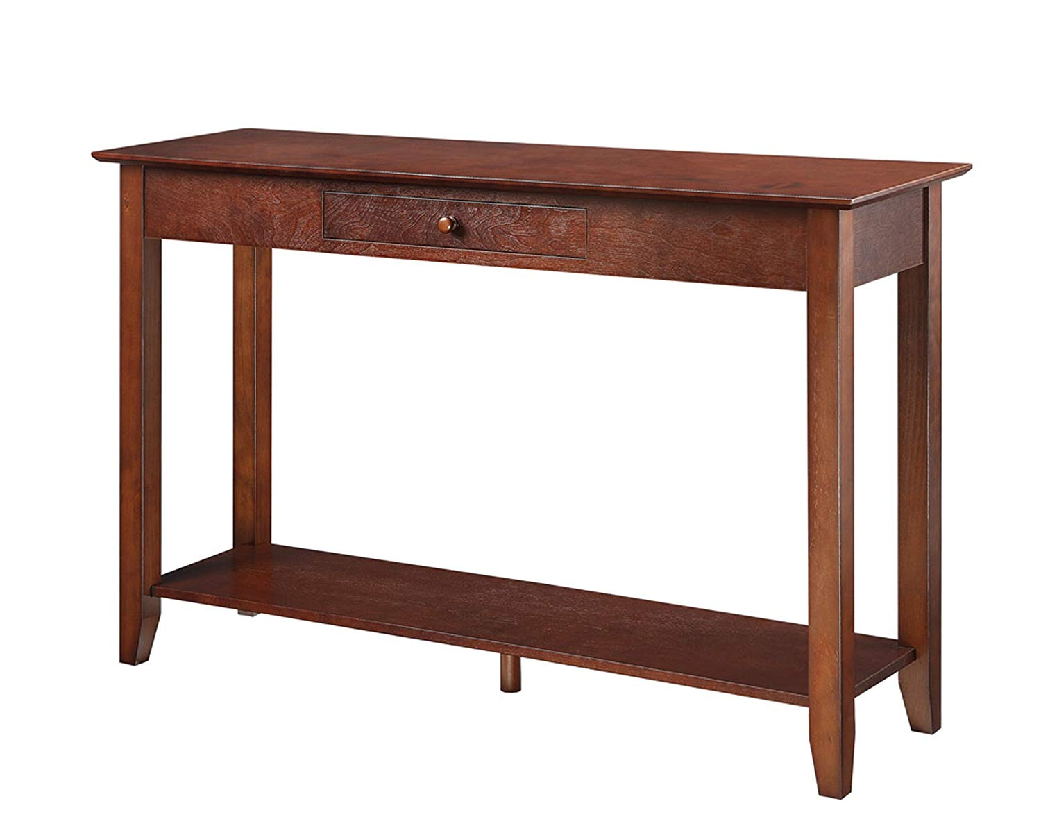 convenience concepts american heritage console table base accent target with drawer and shelf espresso kitchen dining cherry furniture white resin outdoor side tables square