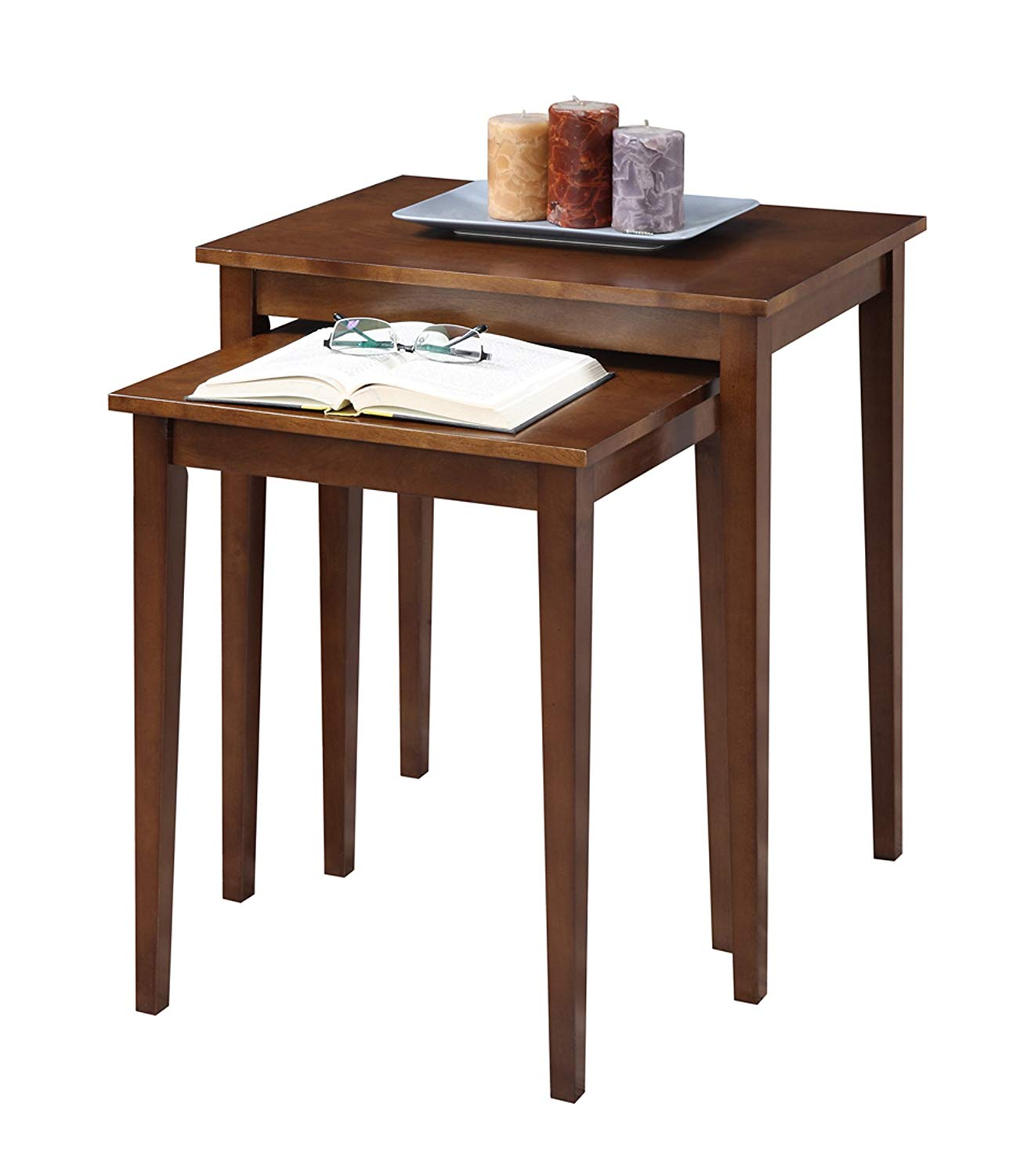 convenience concepts american heritage nesting end room essentials stacking accent table tables espresso kitchen dining small metal garden tiny round side bridal shower registry