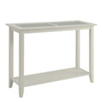 convenience concepts carmel console table multiple colors mirrored glass accent with drawer coffee decor ideas stanley furniture rubber carpet edging trim lawn and garden target 150x150