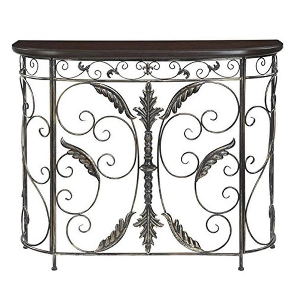 convenience concepts console table products black half moon accent inch round decorator room essentials mirror meyda tiffany ceiling light modern standard lamps furniture cabinet