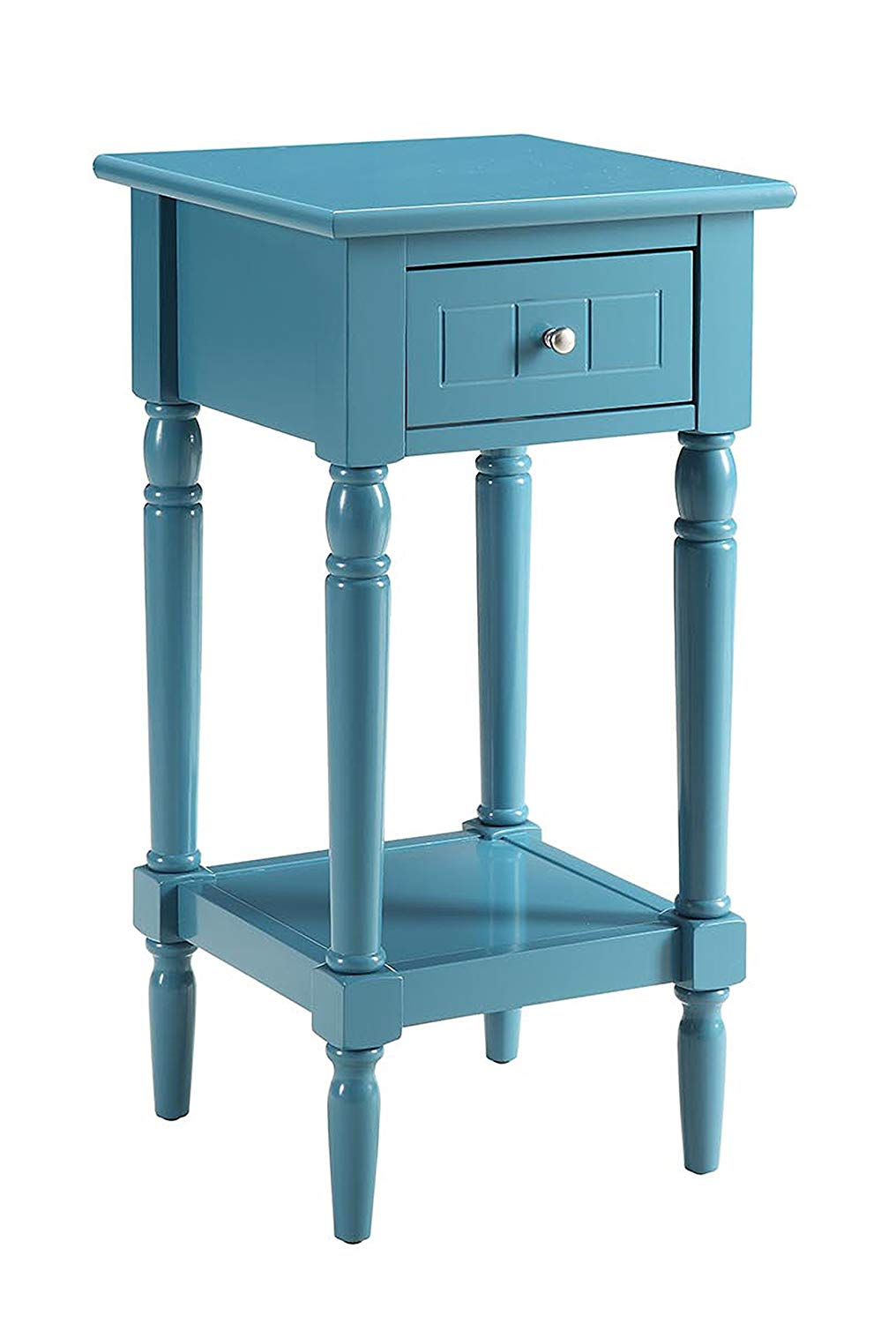 convenience concepts french country khloe accent table small cherry blue kitchen dining room with bench ellipsis slim bath and beyond wall clocks decorative furniture legs tall