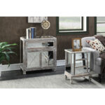 convenience concepts gold coast vineyard drawer mirrored end table target patio storage accent unique home decor glamorous bedside tables cocktail and side dale tiffany leilani 150x150