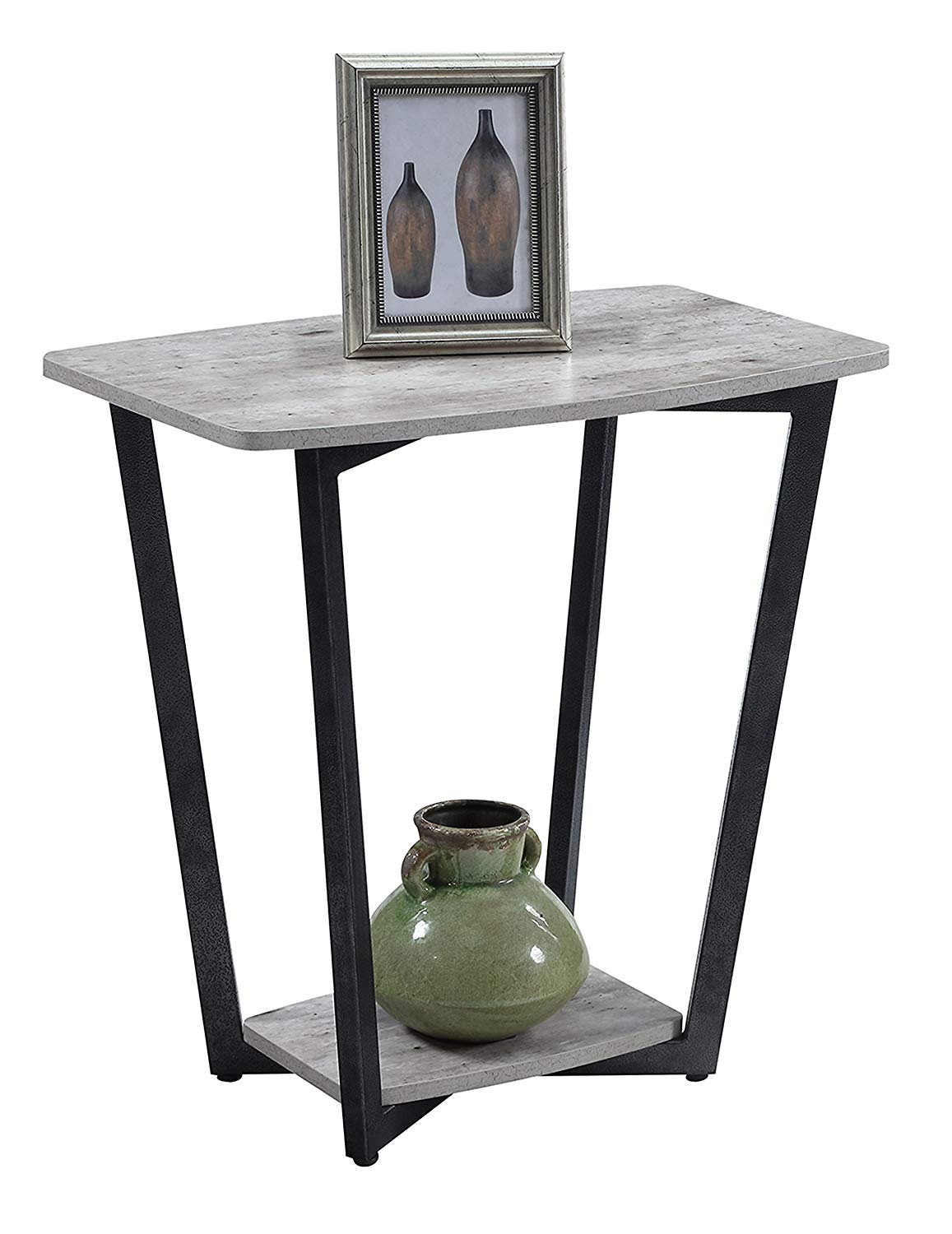 convenience concepts graystone end table faux birch antique bronze accent kitchen dining pipe coffee better homes and gardens multiple colors contemporary wood side tables tall