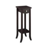 convenience concepts newport espresso prism tall plant stand pedestal accent table hover zoom thin bedside black half moon beachy end tables dale tiffany stained glass lamps 150x150