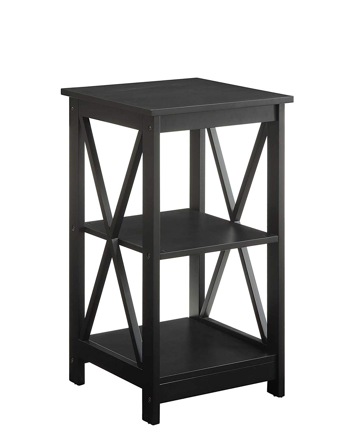 convenience concepts oxford end table black kitchen better homes and gardens accent rustic gray dining foldable pedestal bedside furniture occasional tables garden clearance