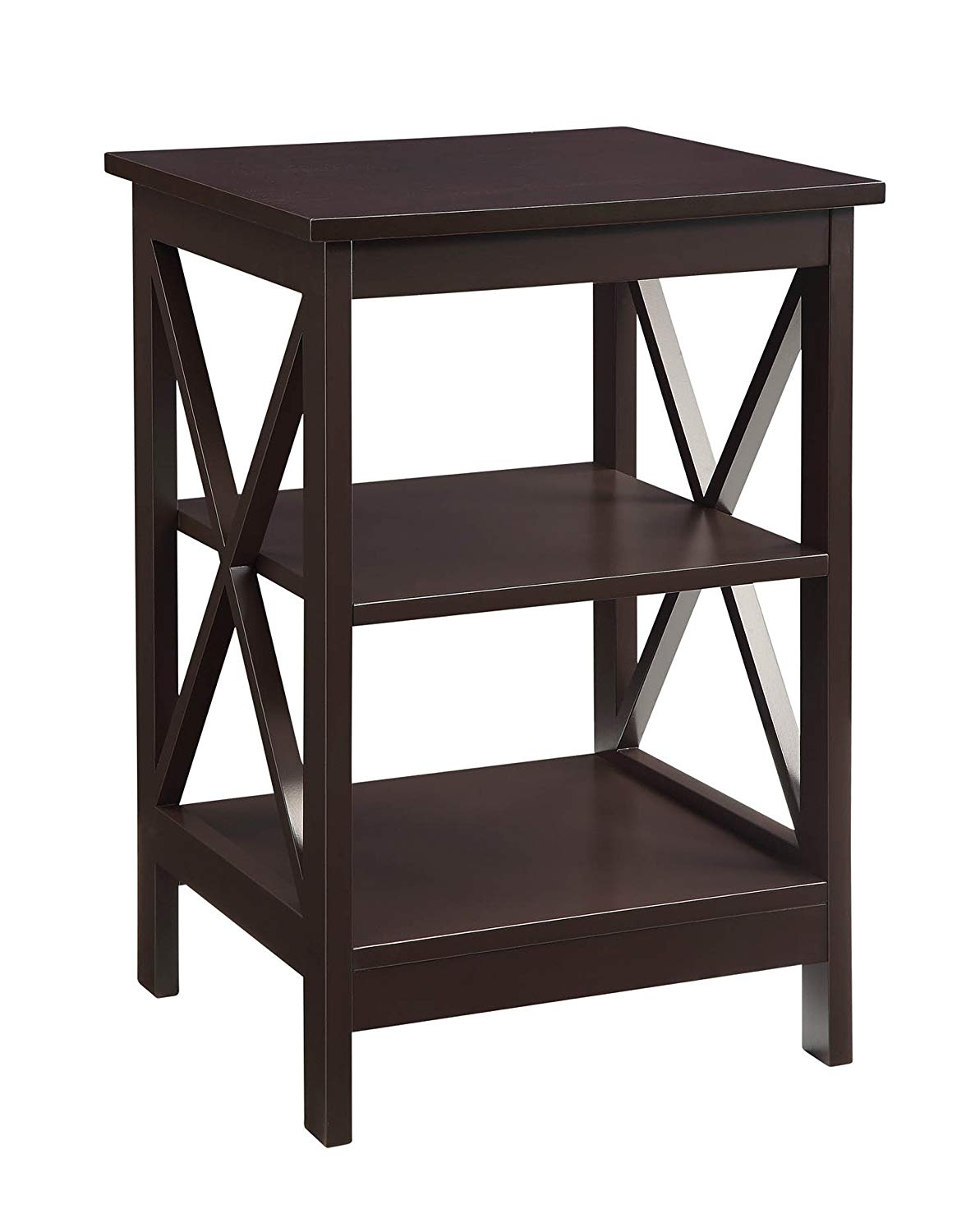 convenience concepts oxford end table espresso kitchen eugene accent winsome dining grey living room furniture west elm loveseat hobby lobby craft wine rack cupboard industrial