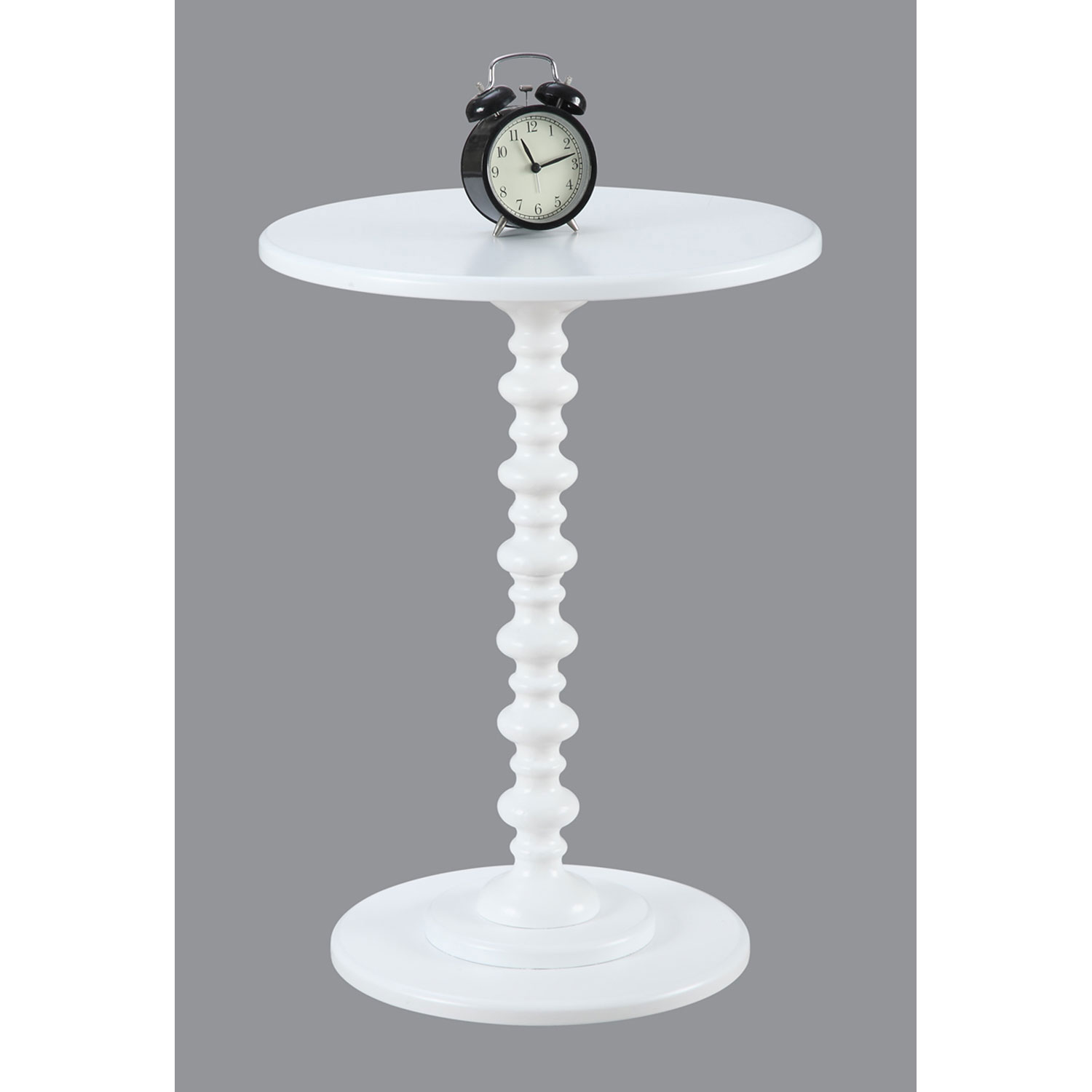 convenience concepts palm beach white spindle end table wood accent hover zoom small black glass unwanted furniture antiques roadshow dale tiffany lamp cottage lighting spring