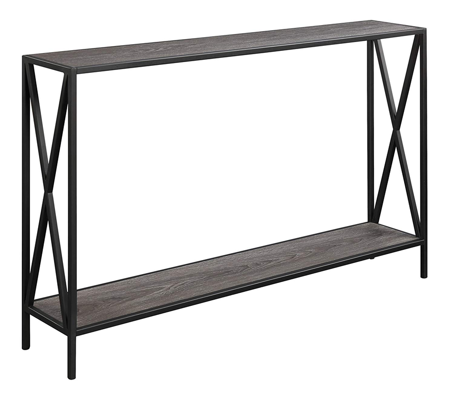 convenience concepts tucson console table weathered gray accent kitchen dining antique round wood sheesham nest tables parquet target ashley furniture bar height dale tiffany