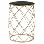 convex round brass metal accent table with smoked glass top free shipping today outdoor storage cabinet waterproof living room sets stacking tables ikea kitchen and chairs pier 150x150