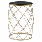 convex round brass metal accent table with smoked glass top side parker gwen velocity furniture end tables target oak wood power station nightstand light wedge shaped foyer 150x150