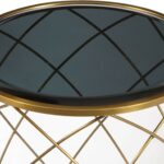convex round brass metal smoked glass top accent table pulaski media gallery navy blue lamp shade parsons coffee outdoor lounge chairs small end lamps tiffany oak nest tables 150x150