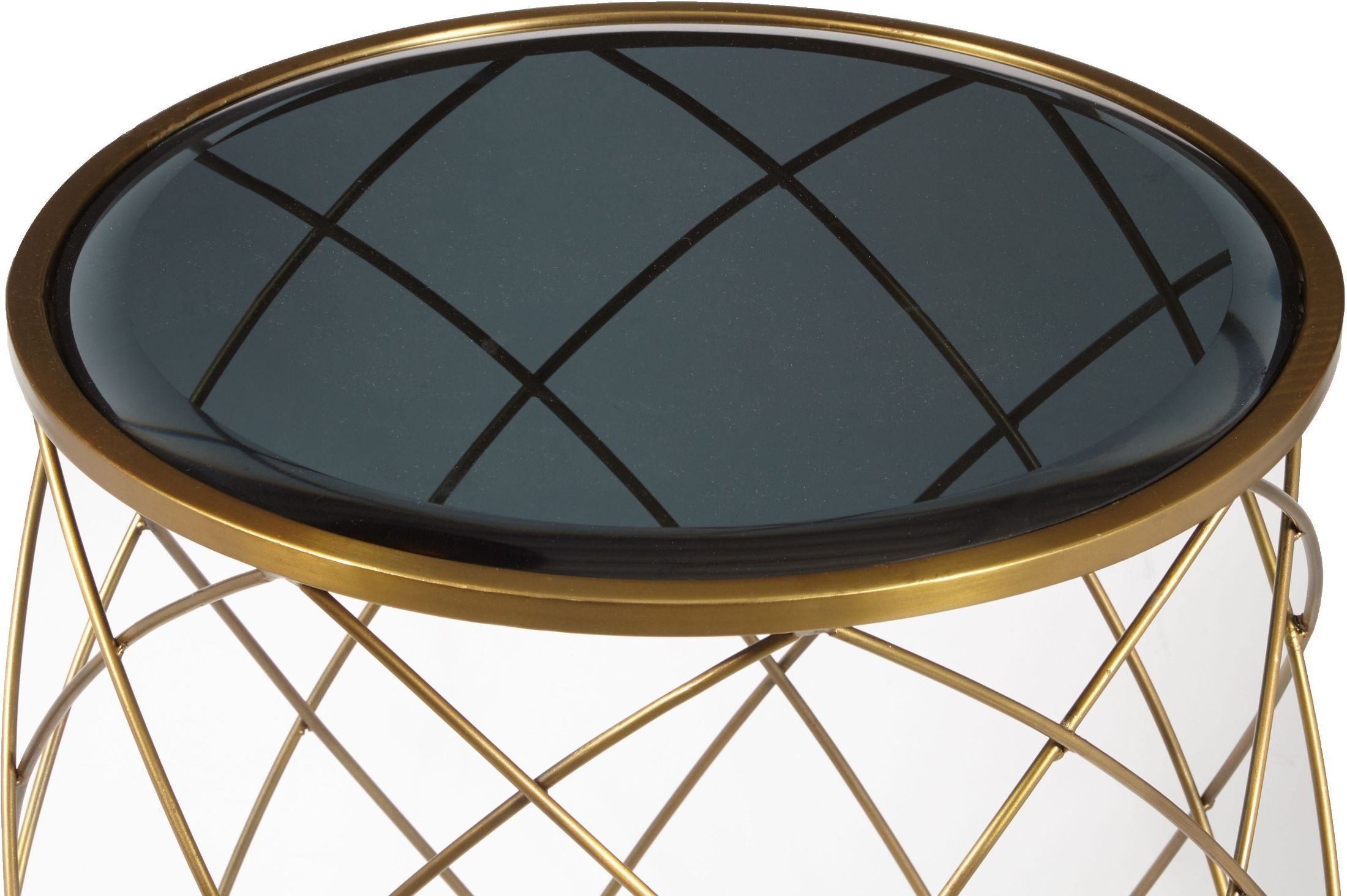 convex round brass metal smoked glass top accent table pulaski media gallery navy blue lamp shade parsons coffee outdoor lounge chairs small end lamps tiffany oak nest tables