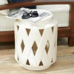 cool ceramic drum stool decor furniture comes with natural solid wooden floor white accent side table varnished sofa seat cushion home brilliant cera ideas features pineapple lamp 150x150