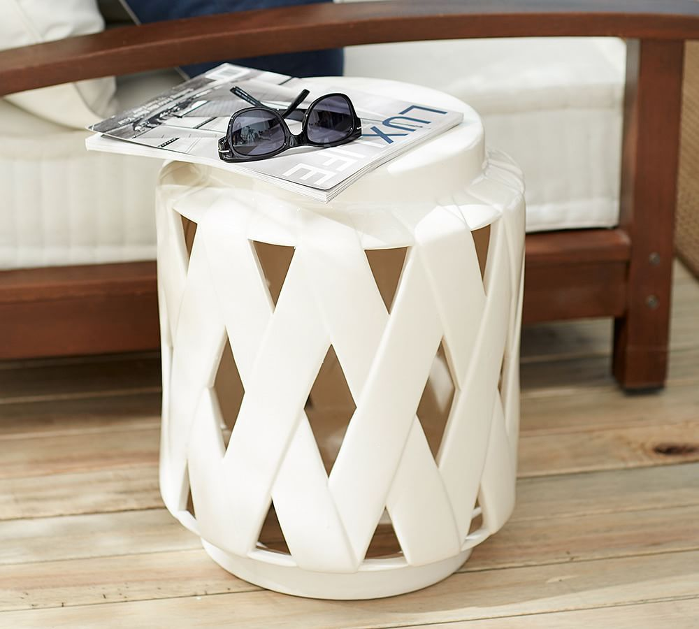 cool ceramic drum stool decor furniture comes with natural solid wooden floor white accent side table varnished sofa seat cushion home brilliant cera ideas features pineapple lamp