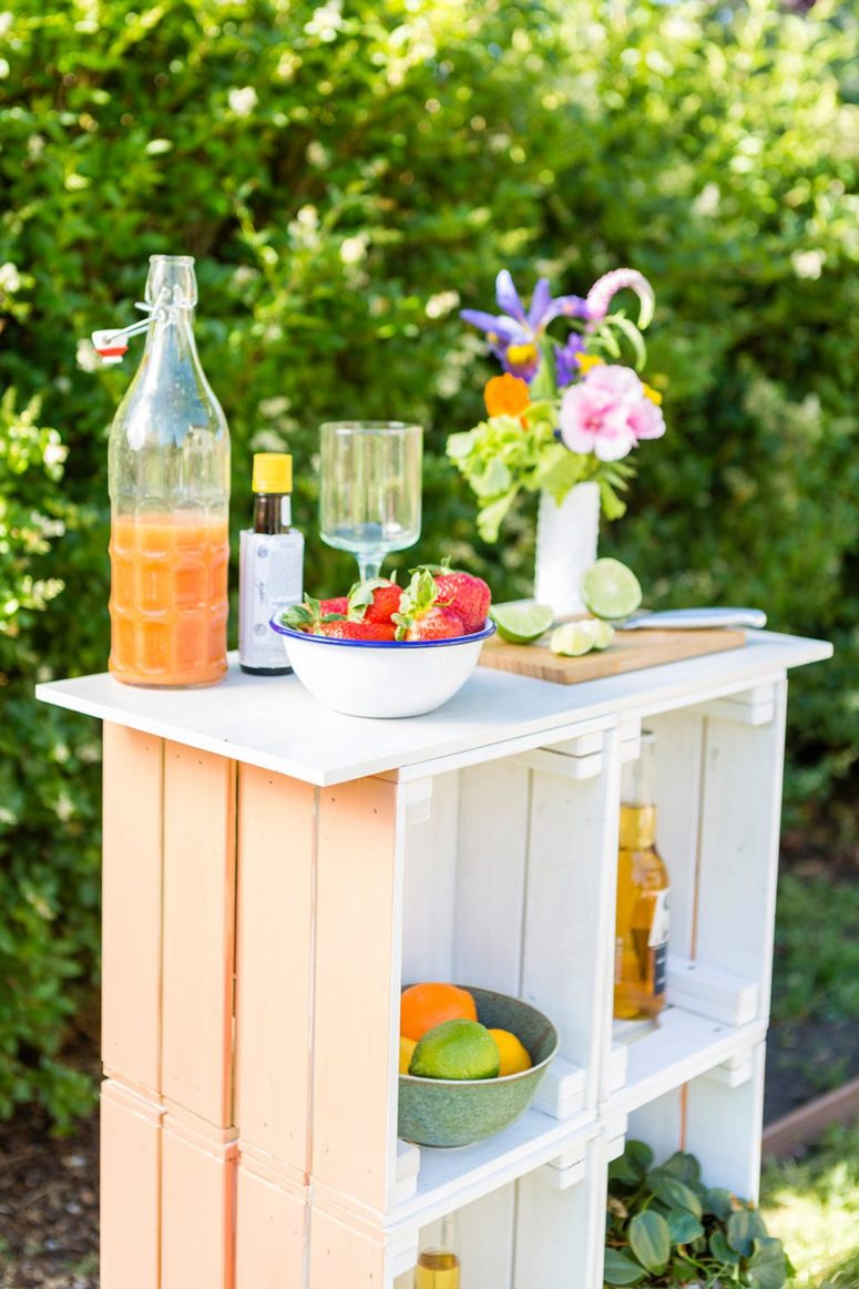 coolest ikea outdoor hacks you need try digsdigs gorgeous bar made knagglig boxes serve cold drinks parties side table beverage cooler coffee calgary tablet accent long cabinet