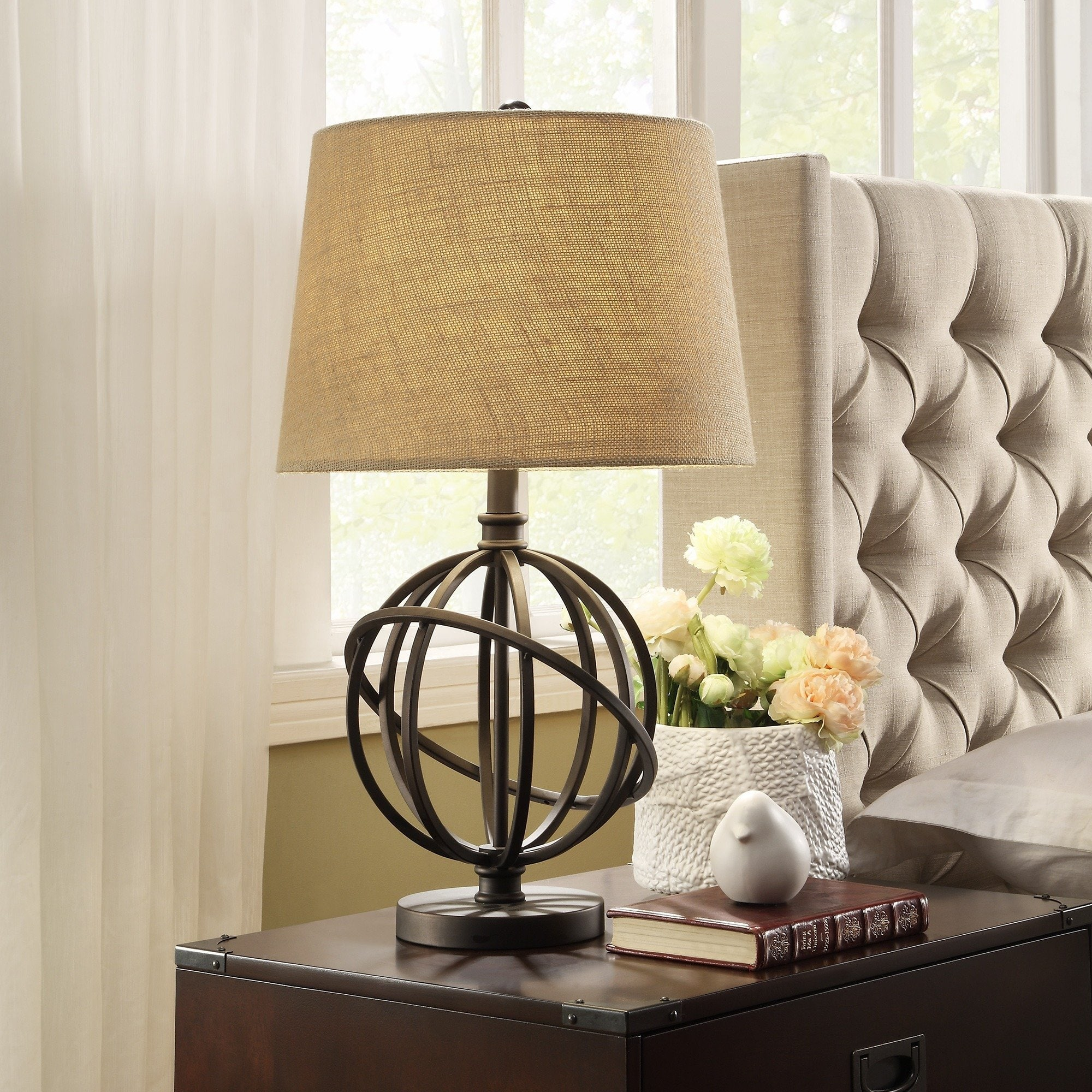 cooper antique bronze metal orbit globe light accent table lamp inspire artisan lighting free shipping today end with wrought iron patio dining granite top tables ikea wooden