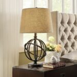 cooper antique bronze metal orbit globe light accent table lamp tables inspire round side with shelf pottery barn dining furniture hooker end chandelier drawer gray and white 150x150